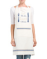 Made In India Eat Well Laugh Often Apron