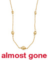 Made In Italy 14k Gold Graduated Headed Necklace