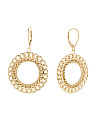 Made In Italy 14k Gold Open Link Circle Earrings