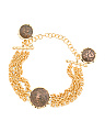 Made In Italy Gold Plated Byzantine Coin Bracelet