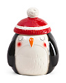 Winter Penguin Cookie Jar