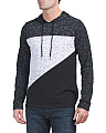 Long Sleeve Diagonal Blocked Hoodie