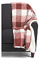 Plaid Mohair Whipstitch Throw
