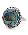 Made In Bali Abalone Beaded Edge Ring