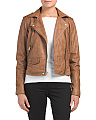 Asymmetrical Washed Leather Jacket