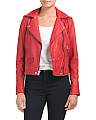 Asymmetric Zip Washed Leather Jacket