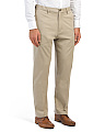 Comfort Stretch Flat Front Pants