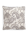20x20 Linen Metallic Embroidered Pillow