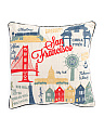 20x20 San Fran Map Pillow