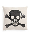 18x18 Sequin Skull Pillow