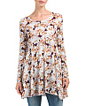 Juniors Floral Tunic