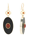 Handcrafted In India Ziban Horn And Red Onyx Earrings