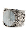 Made In Bali Sterling Silver Mother Of Pearl Cuff Bracelet