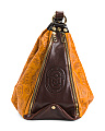Made In Italy Convertible Leather Bucket Bag