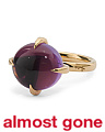 Made In Italy 18k Rose Gold Amethyst Ring