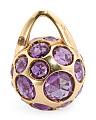 Made In Italy 18k Rose Gold Amethyst Pendant