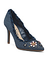 Denim Pump With Jewels