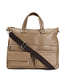 Made In Italy Leather Working Tote