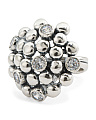Made In Israel Sterling Silver Cubic Zirconia Bubble Ring