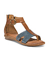 Timina Ankle Buckle Leather Sandals