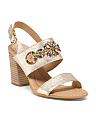 Brazilian Leather Heeled Sandals