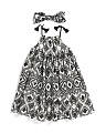 Toddler Girls Printed Dress With Headband