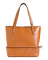 Leather Audrey Amil Comuter Tote