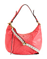 Convertible Leather Hobo