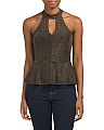 Juniors Metallic Gigi Top