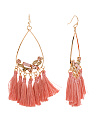 Crystal Cluster Tassel Statement Earrings