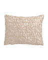 14x18 Gold Metallic Overlay Pillow