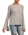 Juniors Metallic Bell Sleeve Sweater