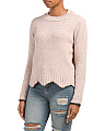 Juniors Metallic Chenille Sweater
