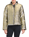 Juniors Metallic Puffer Coat