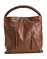 Sheepskin Leather Hobo