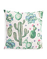 20x20 Cactus And Succulent Pillow