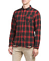 Shredded Plaid Woven Shirt