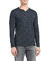 Long Sleeve Inject Slub Henley