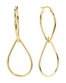 Gold Plated Sterling Silver Pear Drop Earrings