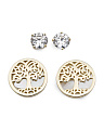 Gold Plated Sterling Silver Tree Of Life Earring Set