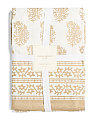 Made In India Metallic Floral Tablecloth