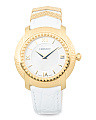 Women's Swiss Made Dv25 Leather Strap Watch