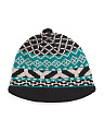 Short Brim Geometric Wool Blend Hat
