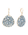 Crystal Woven Teardrop Earrings