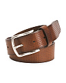 Made In Italy Textured Leather Belt