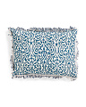 Made In India 14x20 Blue Chabori Pillow