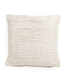 Made In India 20x20 Textured Pillow