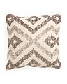 Made In India 22x22 Wool Blend Pillow