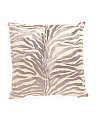 18x18 Satin Animal Print Pillow