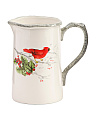 33oz Cardinal Holly Pitcher